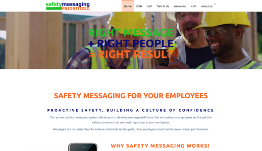 Safety Messaging Prioritized website