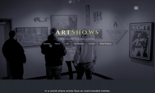 Artsho.ws website