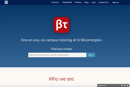 Bloomington Tutors website